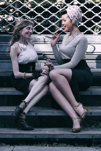 Blondy Violet and Racy Ros in the City of Turin - September 2018 - Rights Reserved: Silvano Silver Ph