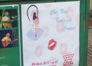 Chez Nous Burlesque Contest - April 2018 @ Teatro Petrolini, Roma - poster adv