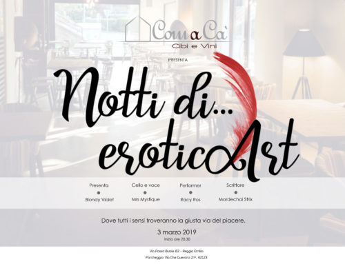 "Blondy Violet brings ""EroticArt Nights"" in Reggio Emilia"