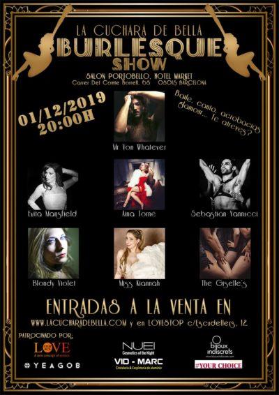 """2019_12_01 - Show """"LA CUCHARA DE BELLA"""" - Poster"""