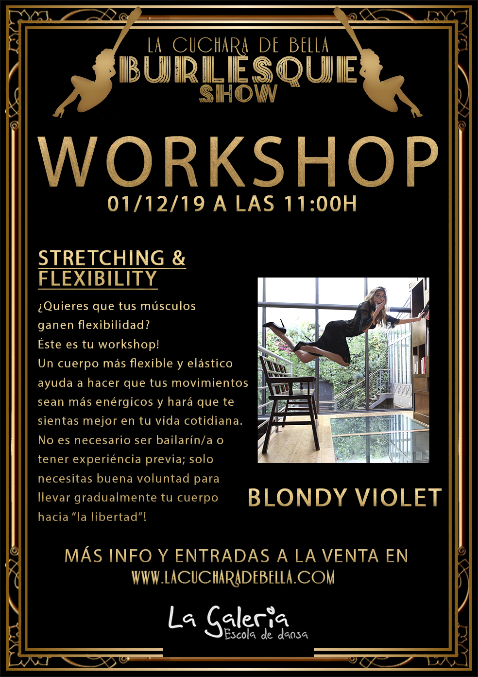 "2019_12_01 - Workshop Stretching Flexibility - ""LA CUCHARA DE BELLA"""